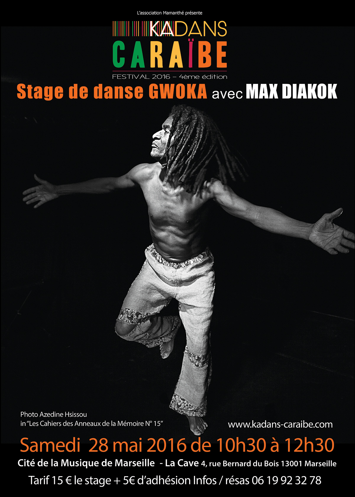 28 mai 2016 – Stage de danse gwoka avec Max Diakok